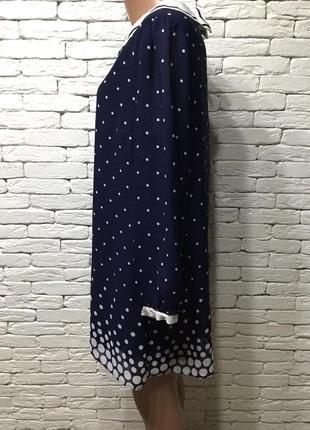 Шифоновое платье в горошек3