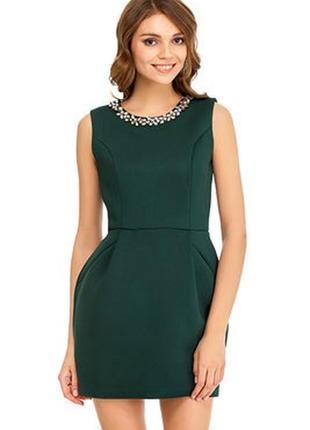 Платье изумрудное5 фото