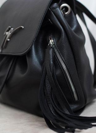 Акция! женский кожаный рюкзак. натуральная кожа!3