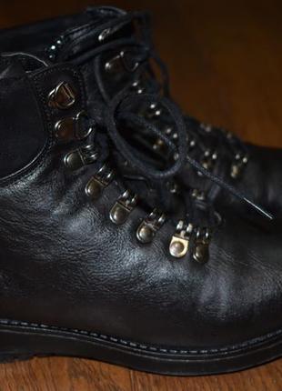 Утепленные кожаные ботинки super mode, 39 размер