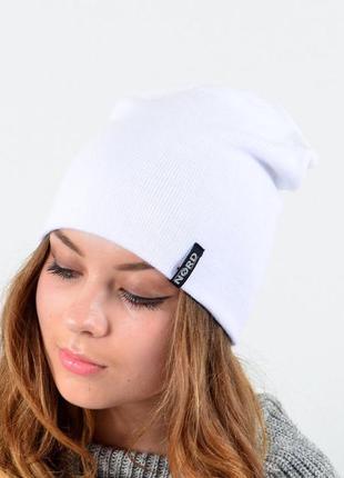 Молодежная шапка, демисезонная, унисекс, меланж, весна, осень