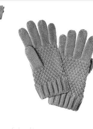 Перчатки для девочек серые. большая зимняя распродажа.