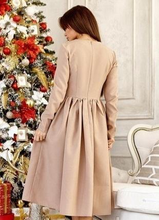 Женское платье миди с пышной юбкой2