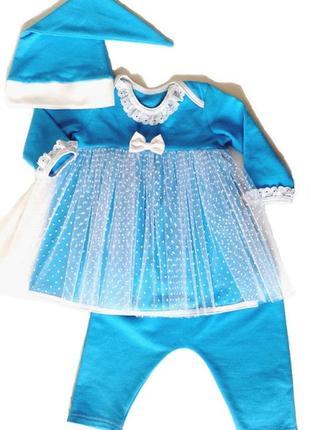 Новогодний костюм снежинка для девочки рр.62-92