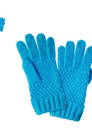 Перчатки для девочек бирюзовые
