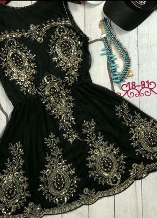 Платье пайетки бисер4
