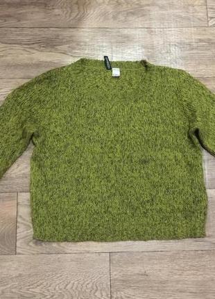Мягкий,теплый ,изысканный вязанный свитер оверсайз с добавлением шерсти!бомба!