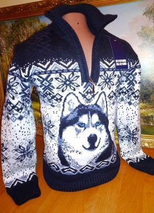 Очень теплый свитер на мальчика рост 140