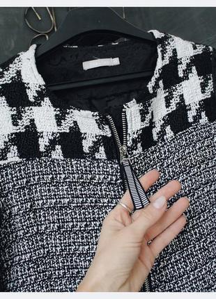 Очень удобный жакет пиджак в классическую гусиную клетку2