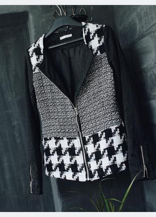 Очень удобный жакет пиджак в классическую гусиную клетку4