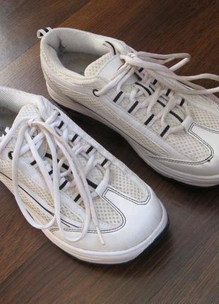 Фитнес-кроссовки белые walkmaxx 2.0, р. 38-39, длина по стельке 24,5 см