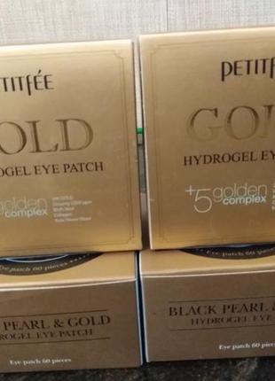 Petitfee, патчи для глаз с золотым гидрогелем, 60 шт