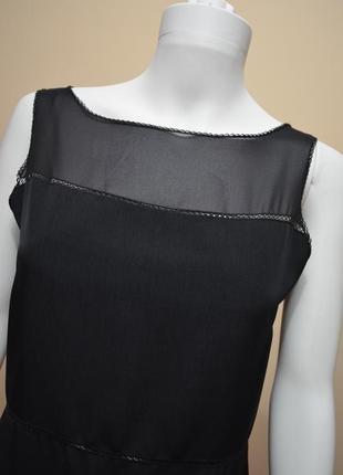 Длинное черное платье с мережкой zapa дорогой бренд *3 фото