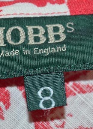 7-14.12 скидки до 70%! льняная юбка цветочный принт 100% лен дорогой бренд hobbs3