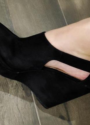 Шикарные черные босоножки 40 р. на широкую ножку. new look. новые!3