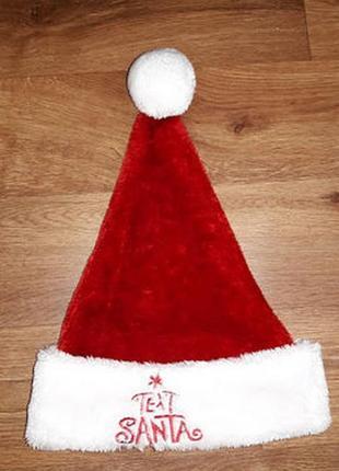 Новогодняя шапка санта клаус text santa3