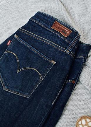 Levis bold curve джинсы стрейч, заужены, скинни,темно синие, на объемные бедра4