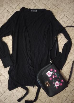 Черный кардиган кофта