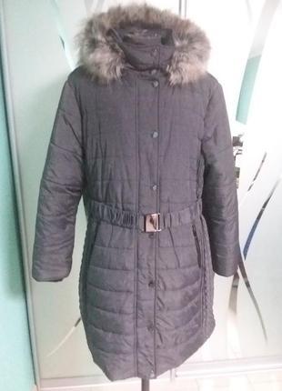 Шикарный зимний пуховик/пальто