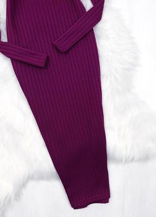 Базова сукня-гольф довжини міді \ базовое пурпурное платье гольф миди boohoo3