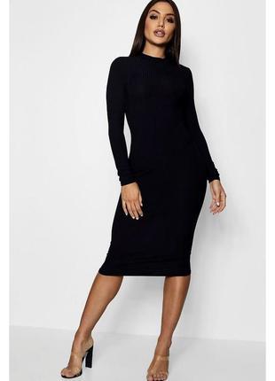 Базова сукня-гольф довжини міді \ базовое пурпурное платье гольф миди boohoo2