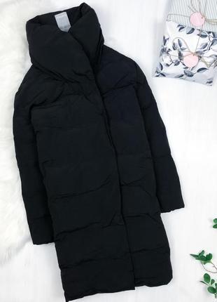 Крутий подовжений оверсайз пуховик кокон \ черный зимний пуховик куртка оверсайз boohoo