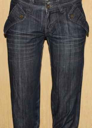 Модные бриджи джинс люкс бренд dolce & gabbana, оригинал! италия 27р 36/38