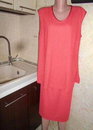 # винтажный костюм тройка жакет ,юбка, топ,большой размер 16 #frank walder#3 фото