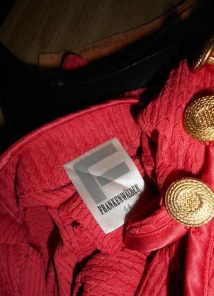 # винтажный костюм тройка жакет ,юбка, топ,большой размер 16 #frank walder#4 фото