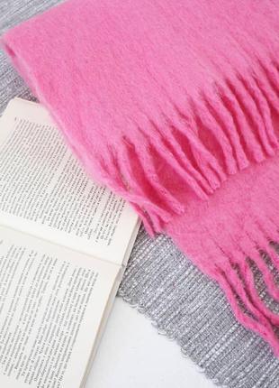 Длинный шарф с бахромой