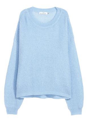 Объемный свитер из смесового мохера р.m h&m пуловер джемпер