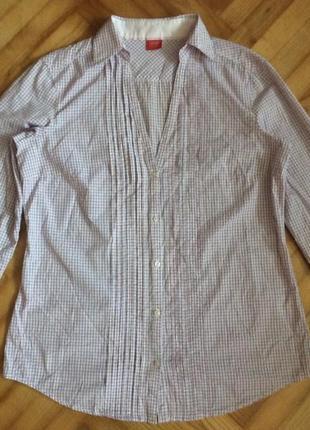 Рубашка в клетку от esprit! p.-42