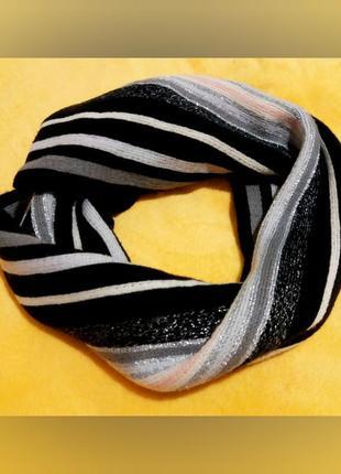Шарф в полоску, теплый шарфик
