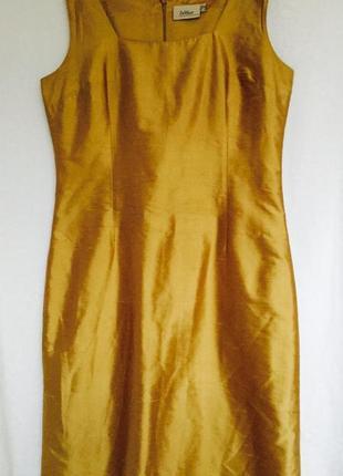 Красивое нарядное миди платье из 100% шелка