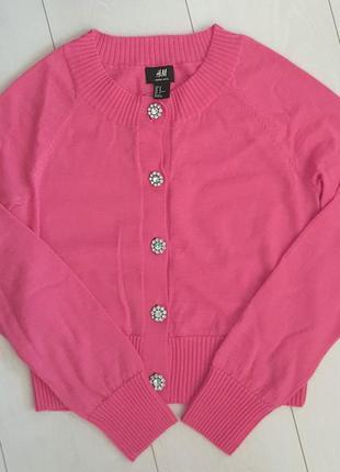 Яркая розовая кофта из мериносовой шерсти