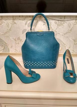Супер элегантный комплект туфли и сумка