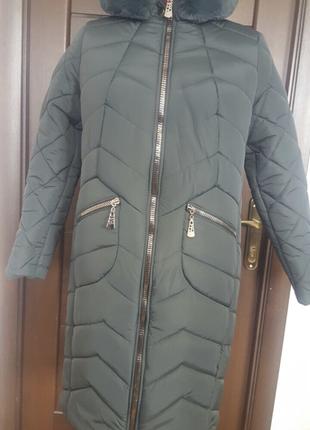Теплое зимнее пальто большие размеры