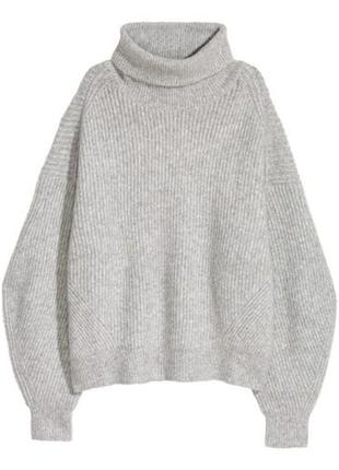 Вязаный свитер джемпер с шерстью h&m