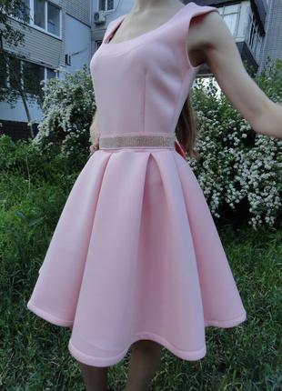Кукольное нежно-розовое платье