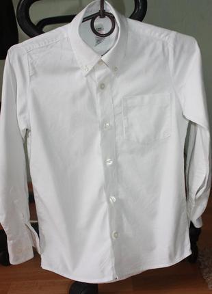Продам белую школьную рубашку m&s, крой slim fit (для худых),  13 -14 лет