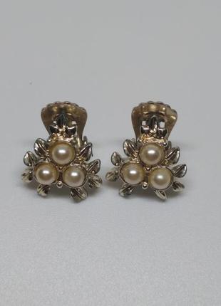 Винтажные клипсы от jewelcraft , 40-50e гг, англия.