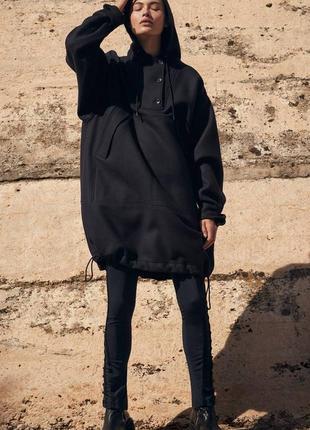 75%шерсть шикарный анорак,пальто  оверсайз h&m studio 2017 ( м и больше см.замеры)