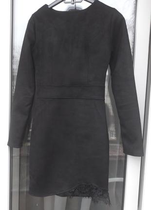 Замшевое платье3