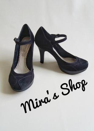 Туфли на каблуке нубук