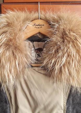 Женский зимний пуховик утиный пух, состояние нового