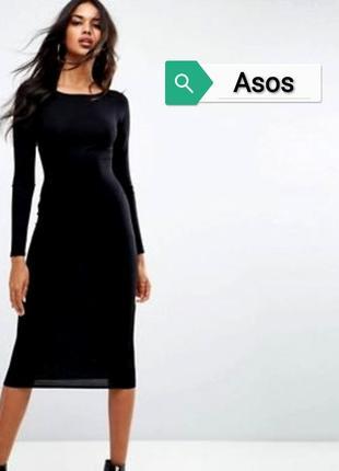 Платье рубчик миди asos