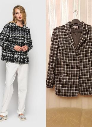 👉шикарный твидовый пиджак-пальто. италия. 👍