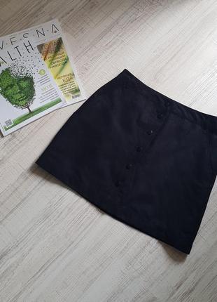 Стильная юбка из эко-замши