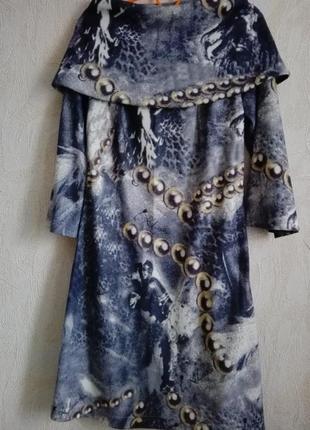 Оригинальное платье со съемным воротником и интересным принтом от i. klairie