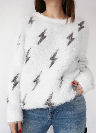 Свитер в молнии, свитер травка